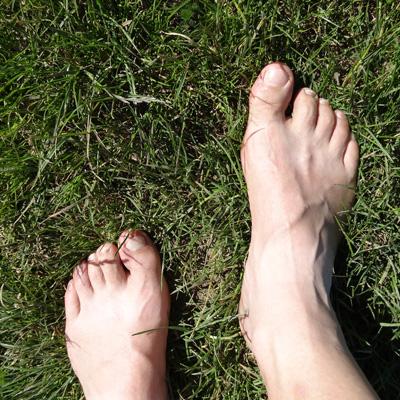 Les pieds à l'air quel bonheur!